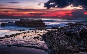 Picture sunrise, Sydney, Manly beach