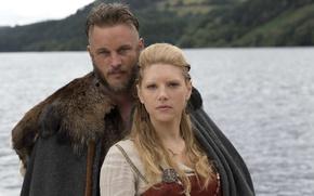 Picture the series, Vikings, The Vikings, Katheryn Winnick, Travis Fimmel