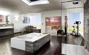 Picture Villa, sauna, bathroom, Suite, simulators