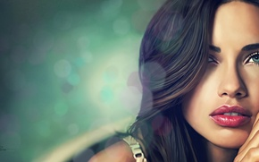 Picture girl, face, background, model, art, Adriana Lima