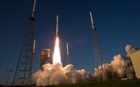 Wallpaper space, rocket, start, Atlas V