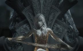 Picture lightning, Final Fantasy, Lightning, the throne, transformation
