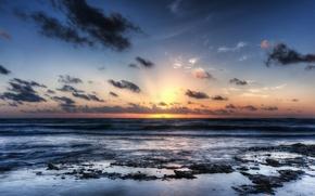 Picture dawn, Mexico, Akumal Beach