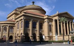 Picture Italy, Sicily, Palermo, the Massimo theatre
