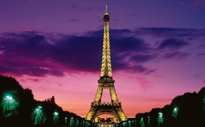 Picture Paris, lighting, Eiffel tower