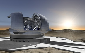 Picture Chile, Chile, The European Extremely Large, giant telescope, telescope (E-ELT), artist's impression