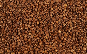 Picture pattern, coffee beans, many