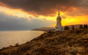 Picture sunset, Crimea, October, our