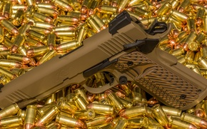 Picture gun, weapons, semi-automatic, Kimber
