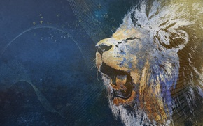 Picture strip, background, abstraction, Leo