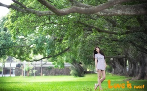 Picture summer, girl, Asian