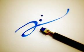 Wallpaper brush, calligraphy, paint