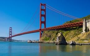 Picture the sky, bridge, Bay, San Francisco, Golden gate