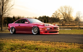 Picture car, red, csi, stance, 8 series, bmw 850