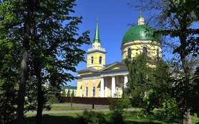 Picture the city, spring, Temple, Omsk