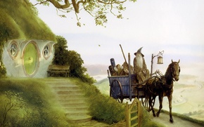 Picture vlastilina rings, Gandalf, Gandalfs Return, John Howe, Frodo, the hobbit