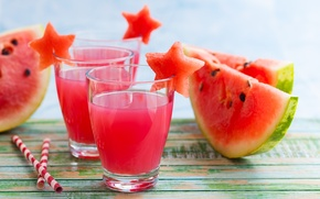 Picture watermelon, juice, slices, water melon