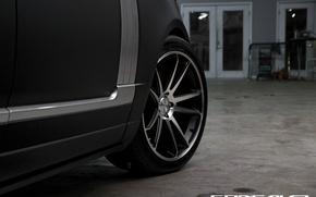 Picture style, wheel, Matt, Range Rover, black, Vogue, concave