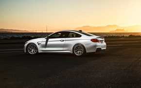 Picture BMW, Car, Sunset, White, Sport, Collection, Aristo, F82, Rear