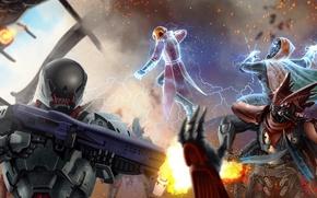 Picture fiction, destiny, alien, helmet, armor, battle, art