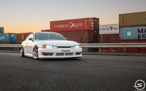 Picture white, nissan, turbo, white, wheels, japan, Nissan, jdm, tuning, silvia, front, face, low, 200sx, Sylvia, …