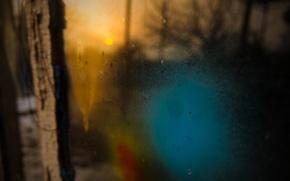 Picture the sky, the sun, light, sunset, paint, Window