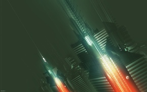 Wallpaper AMPLIFIER404, city, abstract, future