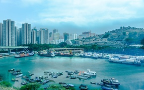 Picture city, Hong Kong, harbour, Hong Kong, harbour