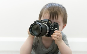Picture background, camera, boy