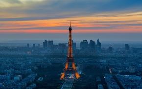 Wallpaper the city, the evening, Paris