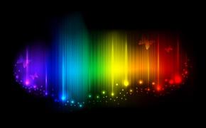 Wallpaper butterfly, rainbow, range, sparks