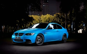 Picture Auto, Night, The city, Trees, BMW, Tuning, Machine