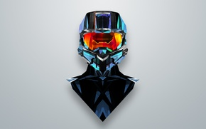 Picture abstraction, the game, minimalism, halo, MASTER CHIEF