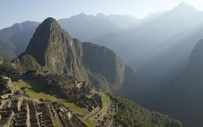 Wallpaper power, beauty, mystery, mystery, legend, myth, Peru, ancient civilizations, city of the Incas, Machu Picchu, ...