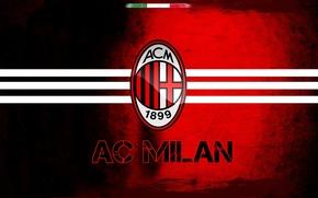 Picture football club, soccer, red, milan, AC Milan, black, sport, Italy, logo