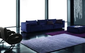 Picture purple, blue, sofa, carpet, interior, chair, chandelier