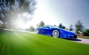 Picture Honda, Honda, blue, Acura, Acura, NSX