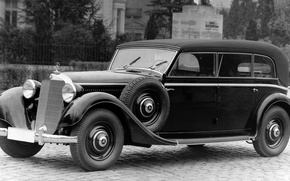 Picture retro, Mercedes-Benz, car, 1937, 320