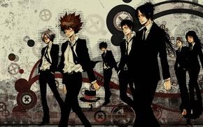 Picture art, Lambo, art, characters, sawada tsunayoshi, Sawada Tsuyoshi, katekyo Hitman reborn!, teacher-mafia reborn!, gokudera, the …