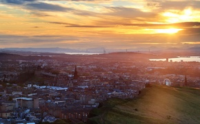 Picture landscape, sunset, the city