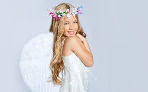 Picture children, childhood, child, wings, angel, wings, angel, child, childhood, children, happiness, happiness, flower crowns, Crown …