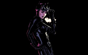 Picture cat, black, woman, makeup, costume, black, comics, woman, art, leather, comics, hero, catwoman, costume, thief, …