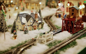 Picture model, toys, minimalism, railroad