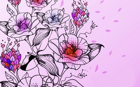 Picture flowers, abstraction, roses