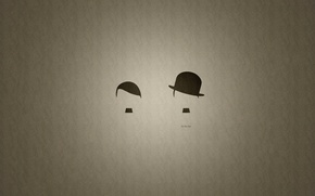 Picture creative, hat, advertising, Charlie Chaplin, Hut Weber, Hitler, it's all about the hat