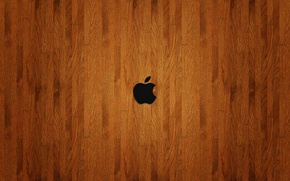 Wallpaper Hi-Tech, mesh, texture, Apple, wooden background