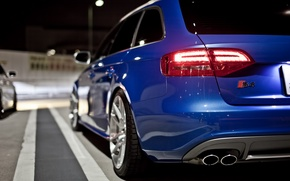Picture blue, audi, back, universal