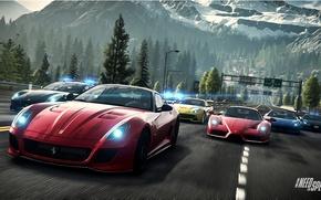 Picture Road, Mountains, Ferrari, Race, Landscape, Enzo, Group, 458 Italia, F12 Berlinetta, Need For Speed : …