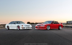 Picture nissan, turbo, red, white, road, japan, jdm, tuning, silvia, gtr, 200sx, s14, nismo, datsun, zenki
