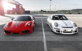 Picture 997, Porsche, Ferrari, red, 360, Carrera S, 3.8